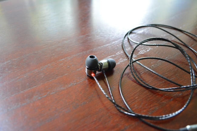 earphones closeup